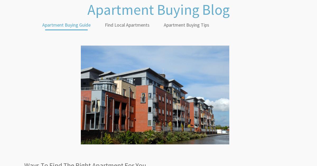 Apartment Buying Blog